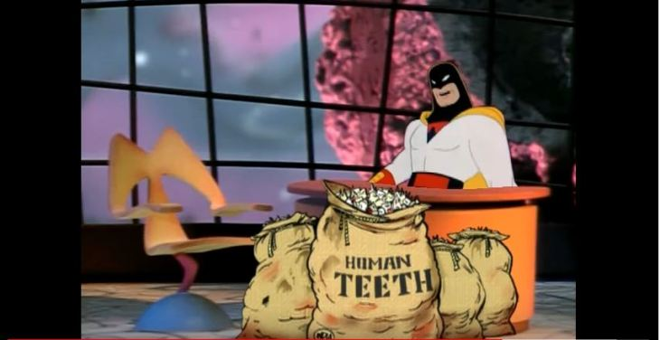space ghost human teeth